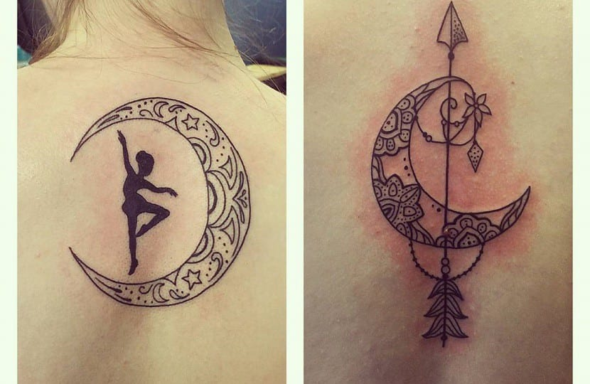 tatuaje luna y estrellas