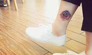 Tatuajes en los tobillos