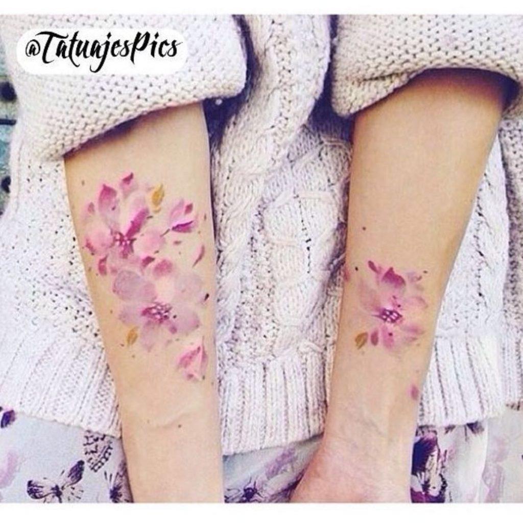 Tatuajes Madre e Hija Originales Flores