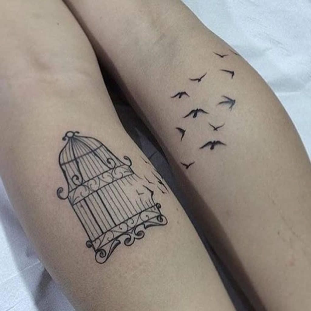 Tatuajes Madre e Hija Originales Jaula