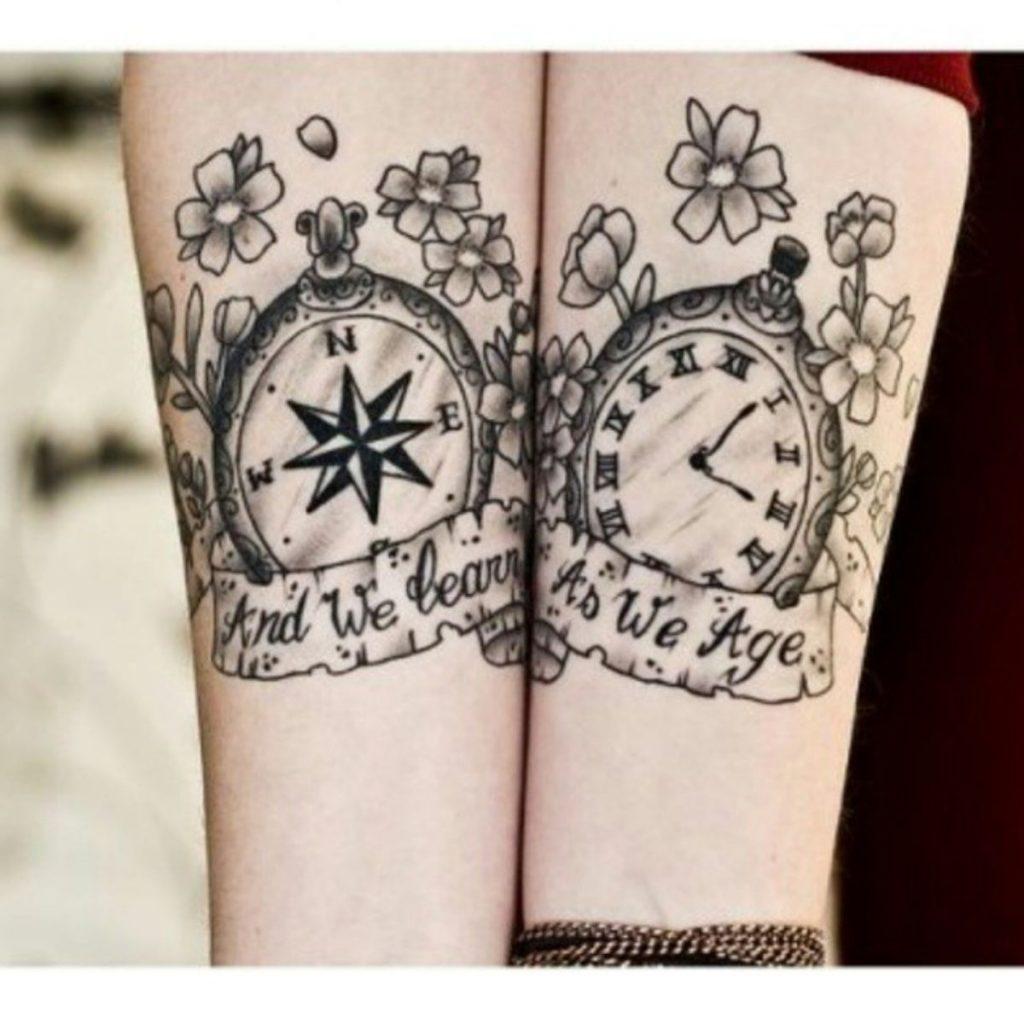 Tatuajes Madre e Hija Originales Reloj