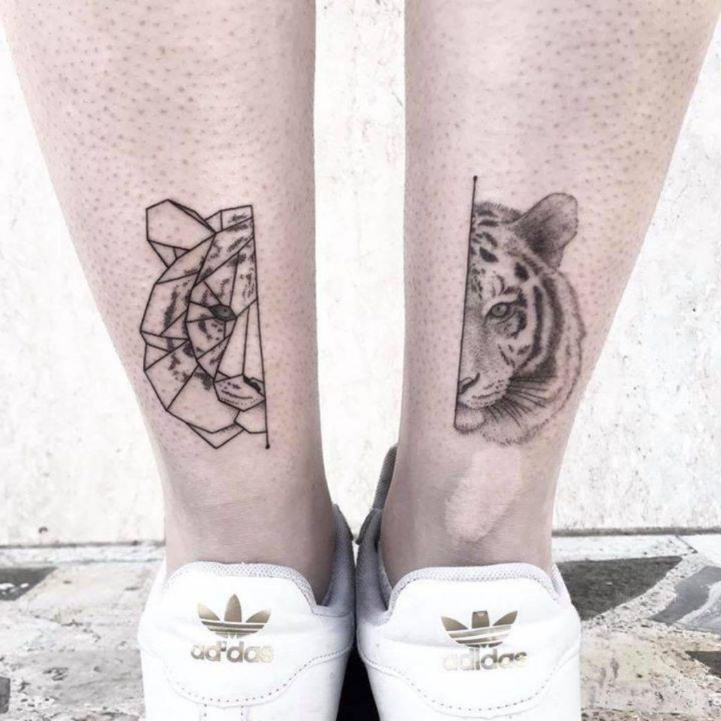 Tatuajes Madre e Hija Originales Tigre