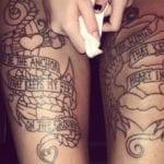 Tatuajes en los muslos