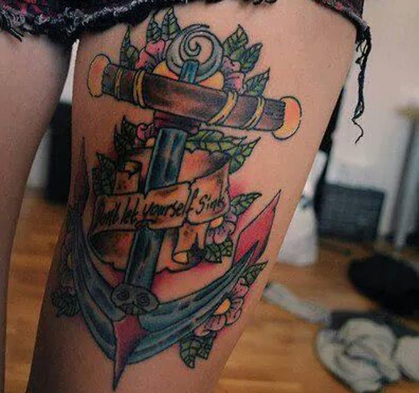 Tatuajes En Los Muslos Detalles A Tener En Cuenta