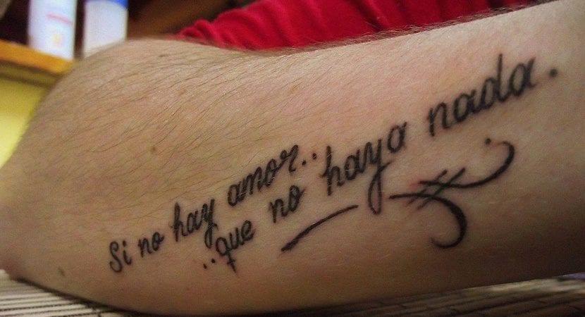 frase de amor tatuaje