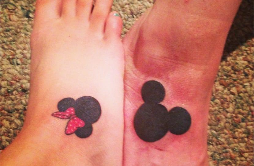 Tatuajes De Mickey Y Minnie Mouse