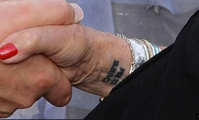 Judi Dench tattoo