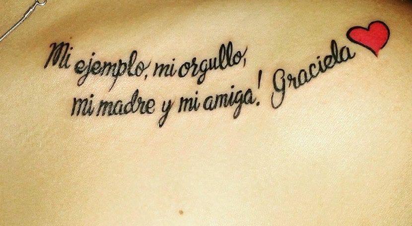 tatuaje frase madre