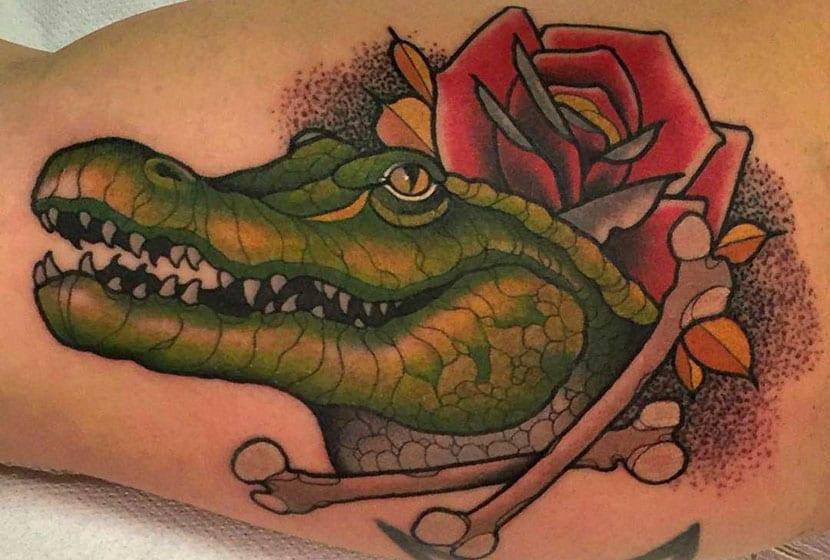 Tatuajes de cocodrilos