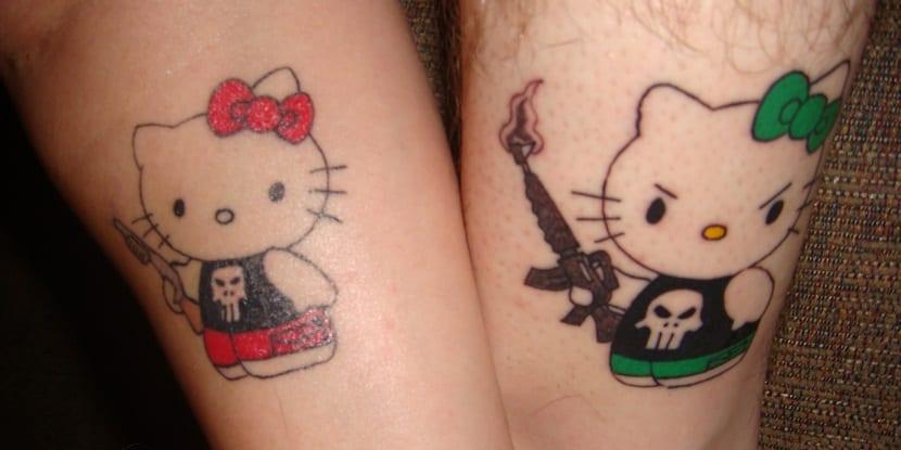 Hello Kitty-tatuaje