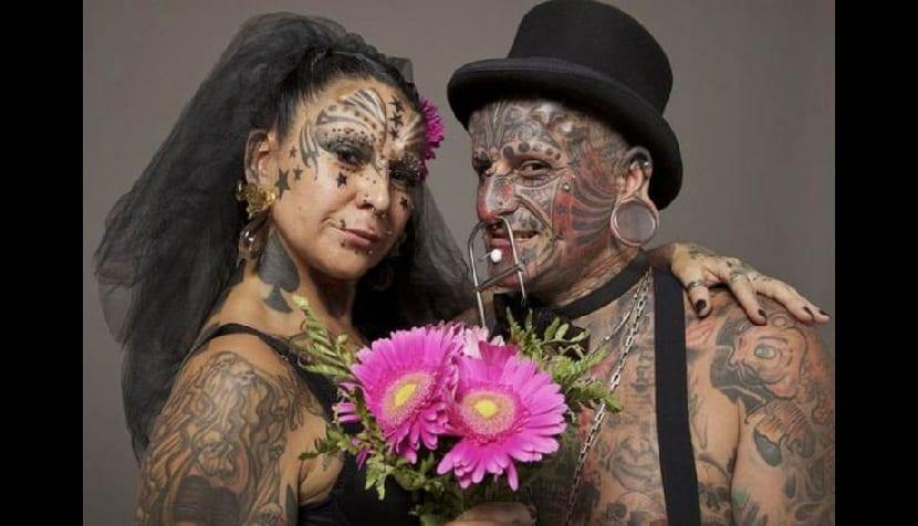 pareja más tatuada