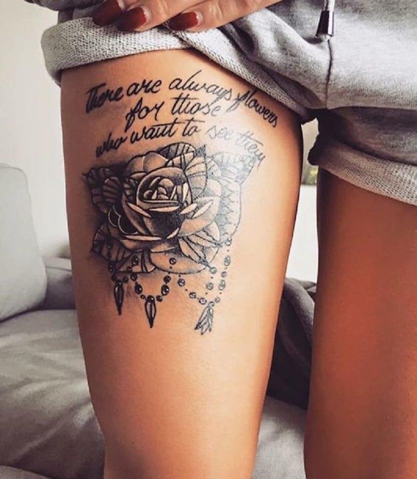 Tatuaje en el muslo