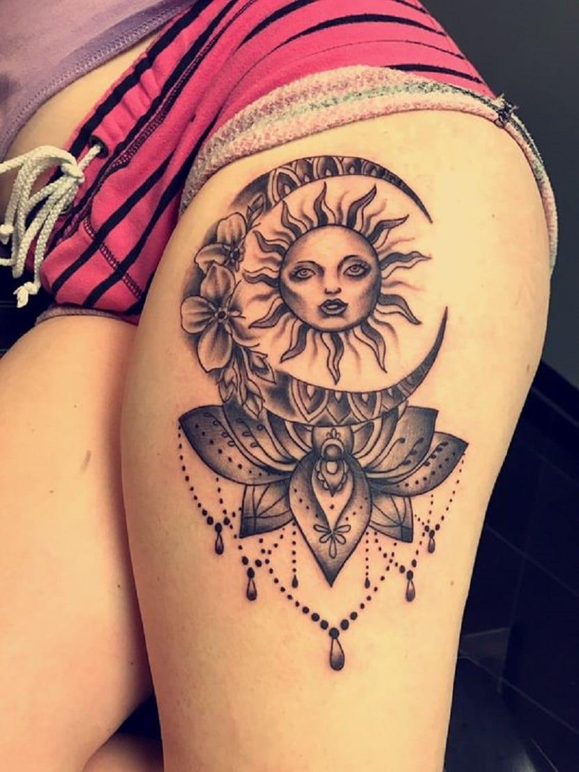 Tatuajes En La Pierna O En El Muslo Muy Sexys Y Llamativos