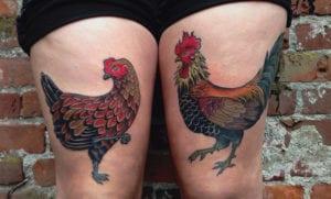 Tatuajes de gallos