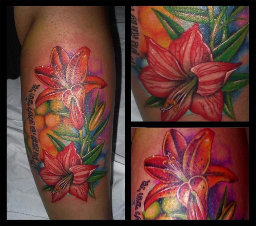 tatuajes de lirios