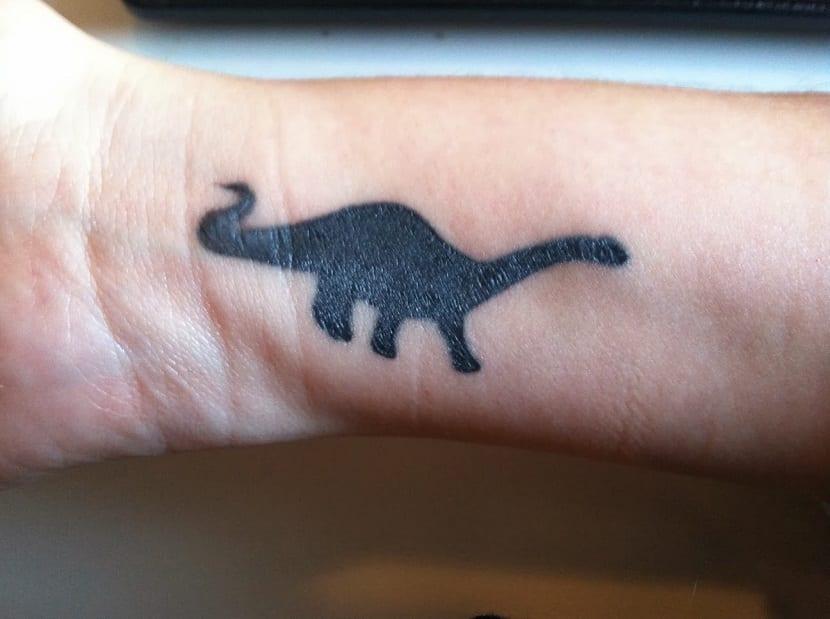 Tatuaje de diplodocus