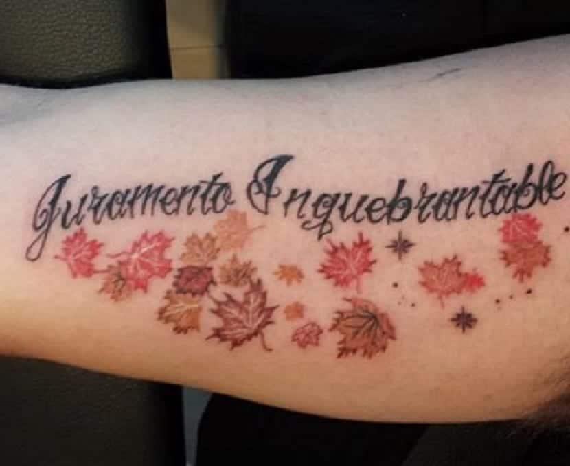 Tatuaje Juramento Inquebrantable