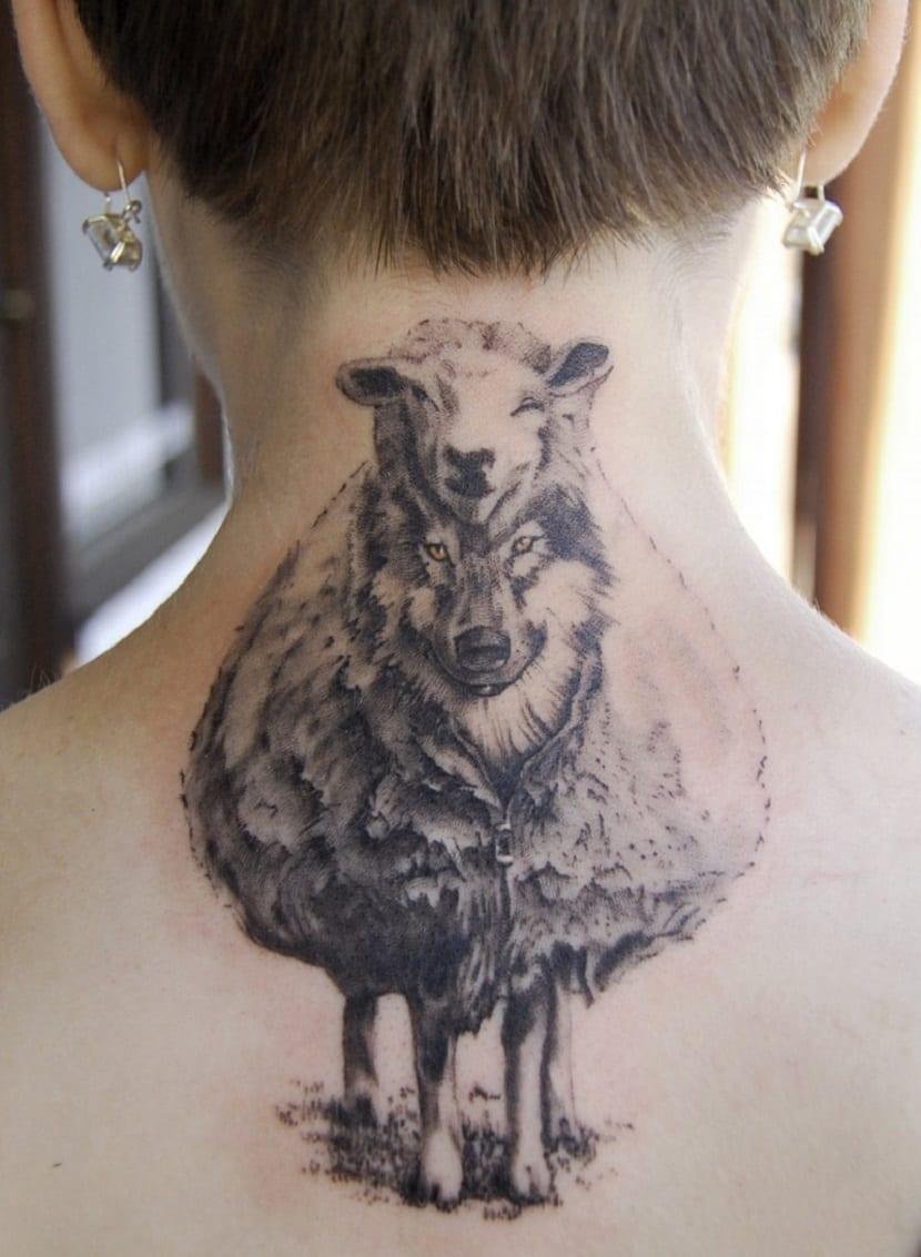 Tatuaje de lobo_cordero
