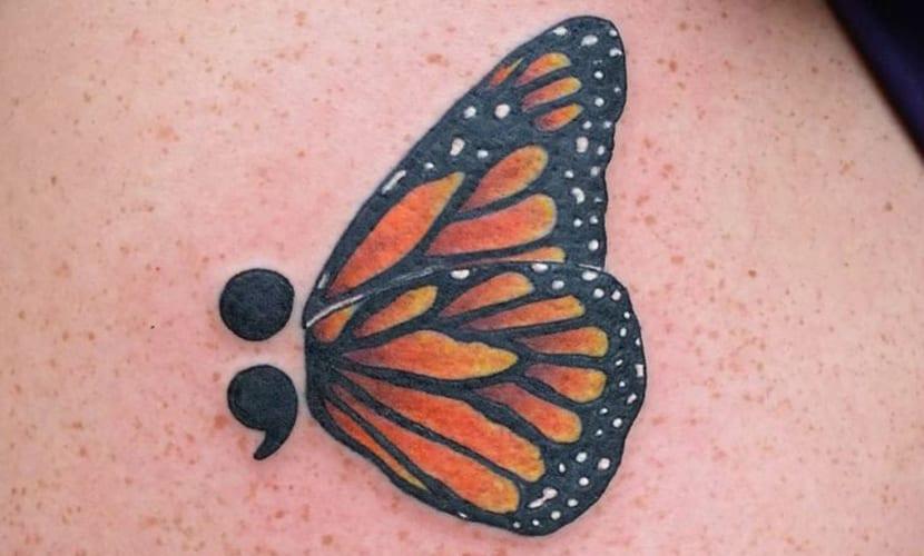 Tatuajes Inspirados En Signos De Puntuación Como El Punto Y Coma