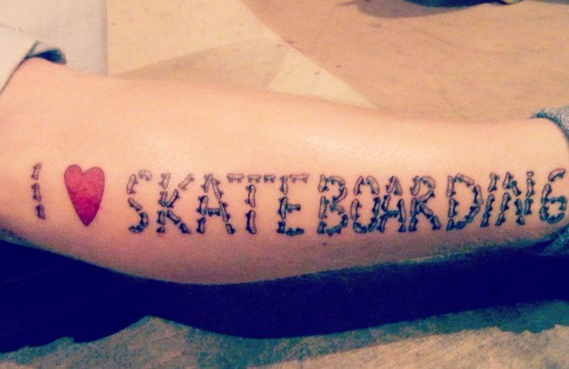 I love skateboarding
