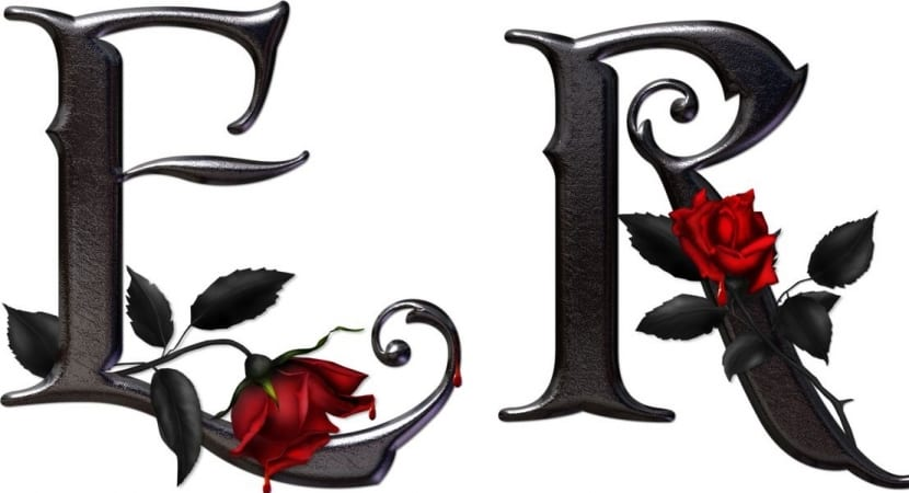 Letras con rosas