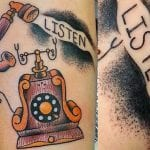 Tatuajes de teléfonos clásicos