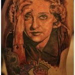 Bette Davis tattoo