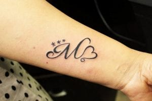 corazones con letras