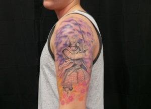 Tatuaje Samurai brazos