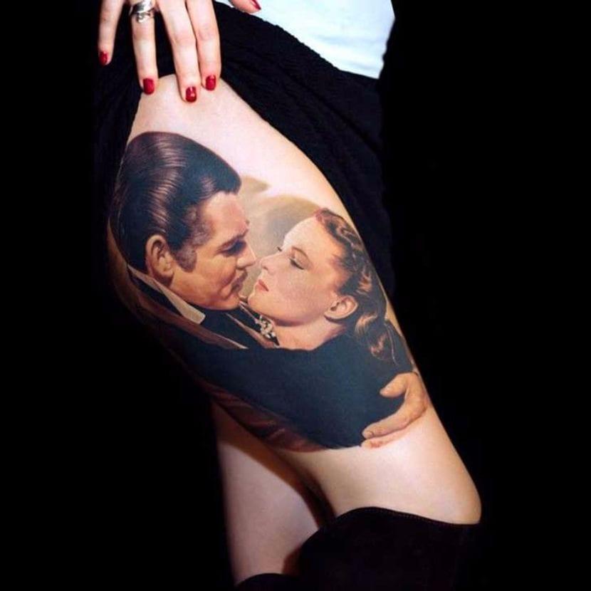 Vivien Leigh tattoo