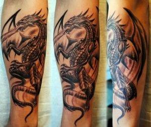 tatuajes de dragón en el brazo