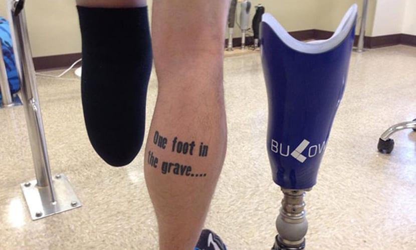 Tatuajes para personas amputadas