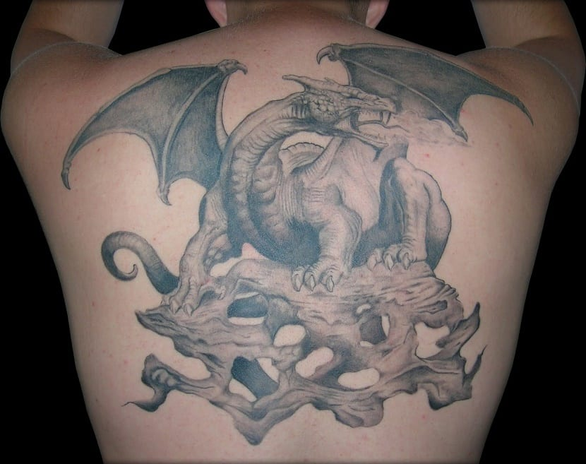 tatuajes de dragones medievales