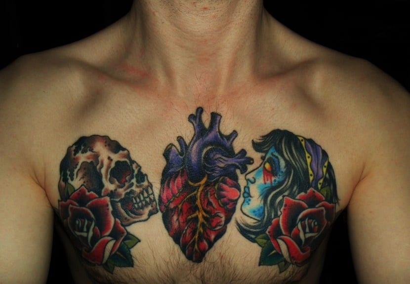 tatuaje de corazón real