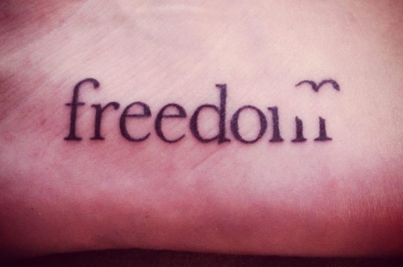 Tatuaje libertad
