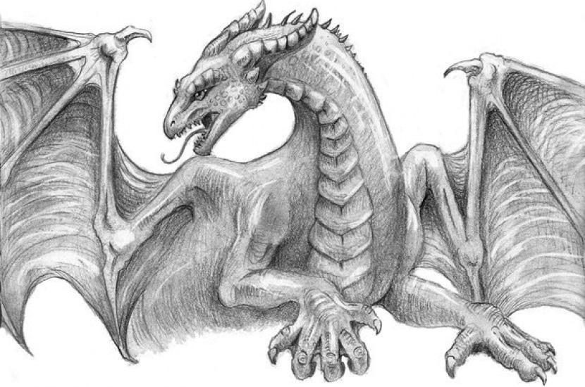 Dibujos a lápiz de animales mitológicos - Fantasía para tu ...