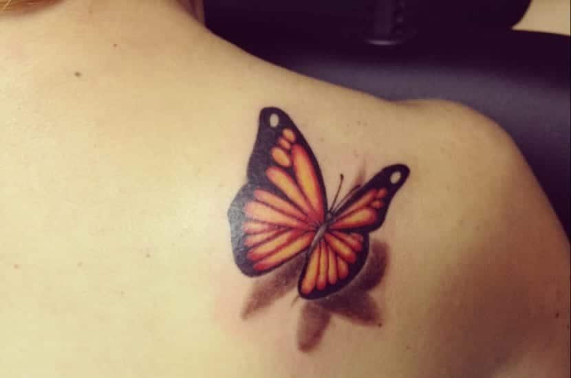 Tatuaje Mariposa 3d Sinonimo De Belleza Y Realidad - Mariposas-tatuaje