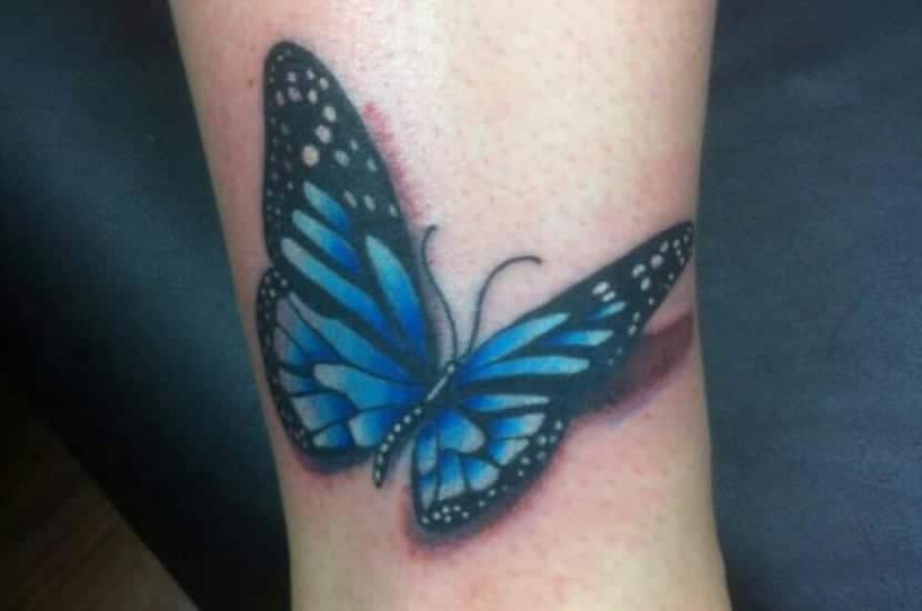 Tatuaje Mariposa 3d Sinonimo De Belleza Y Realidad