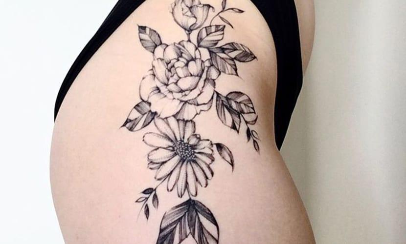 Tatuajes En Las Caderas Recopilación Y Ejemplos De Diseños