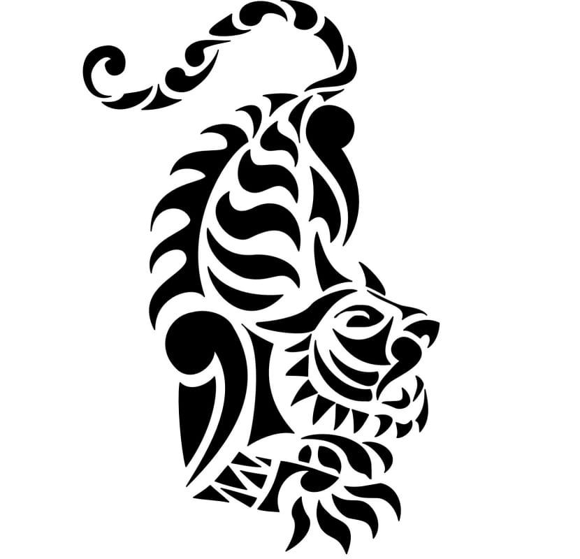 Tigre Tribal Un Diseño Con Mucho Poder Y Belleza