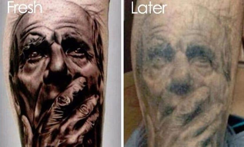 Deterioro de los tatuajes