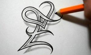 Caligrafía letra e mayúscula