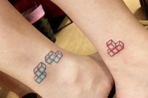 Tatuaje piezas tetris color