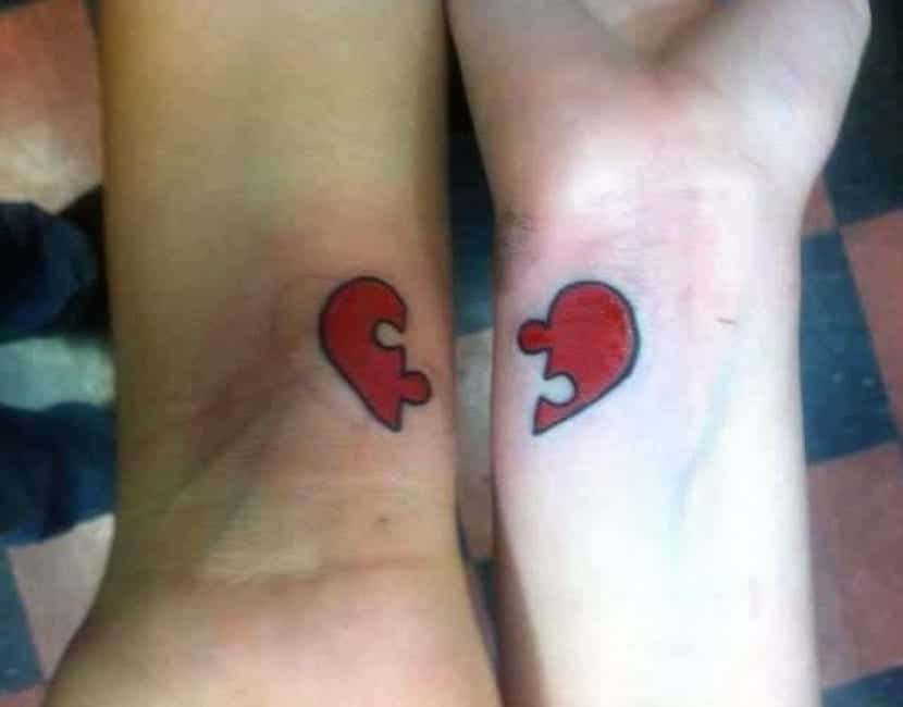 Tatuaje corazón complementario
