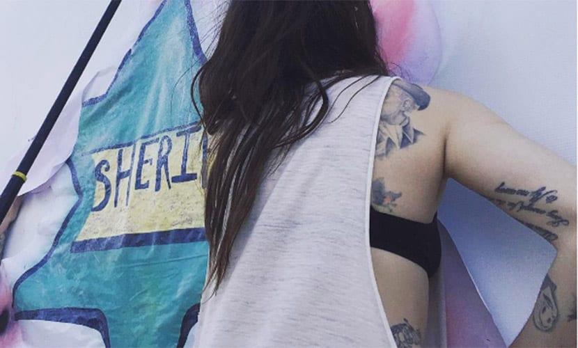 tatuaje de Frances Bean