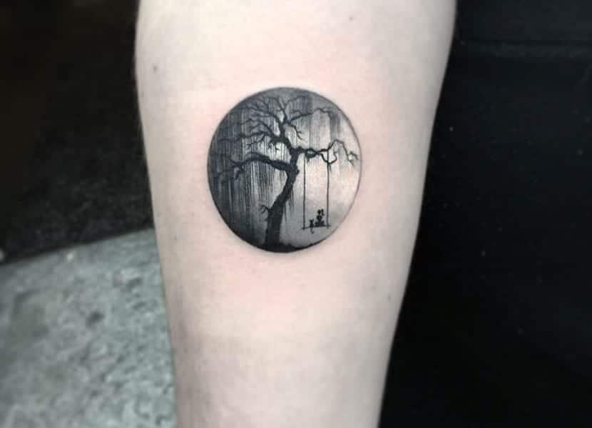 Tatuajes redondos tenebrosos