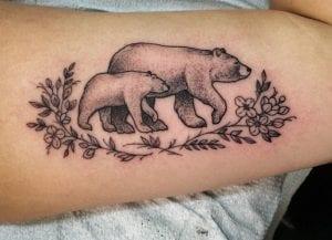 Tatuaje osos familia