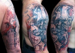 tatuajes de cruces templarias