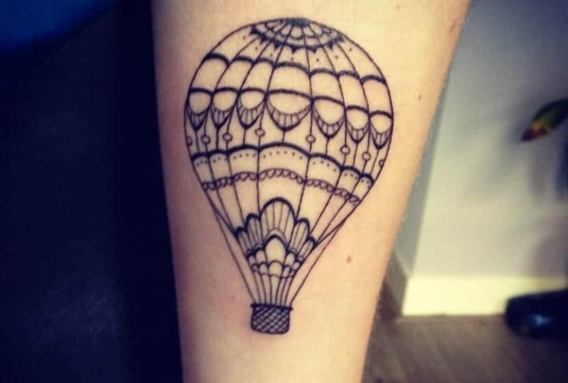 Tatuaje con globos