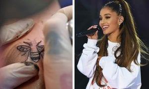 Tatuaje de Ariana Grande
